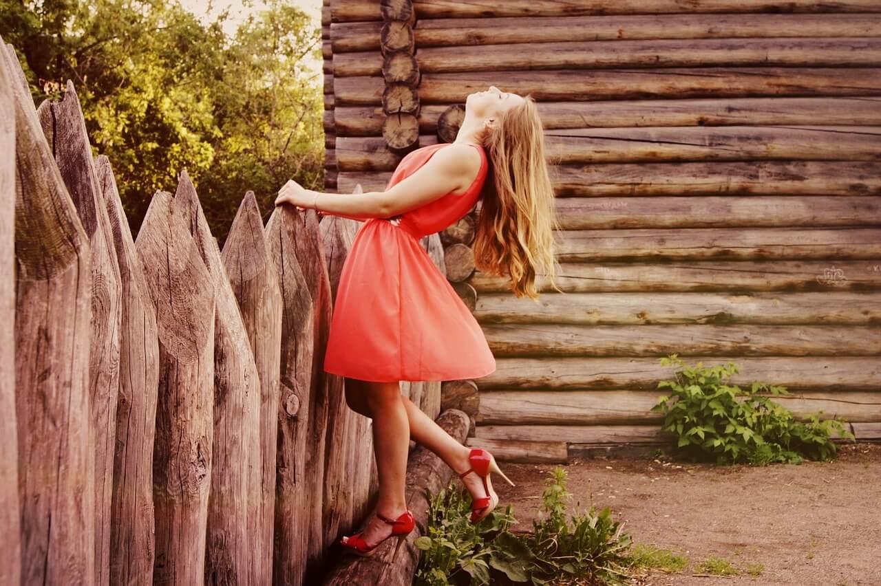 Beautiful Girl, Red Dress