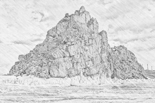 Байкал рисунок