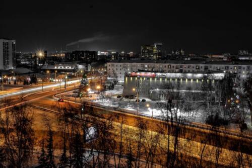 Барнаул ночной город