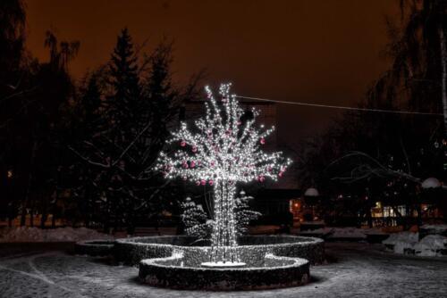 Ледяной фонтан Барнаул