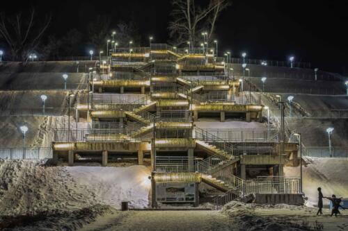 Барнаул лестница в Нагорный парк