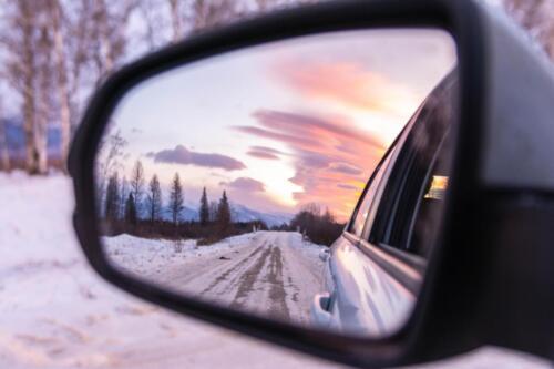 Отражение гор в зеркале