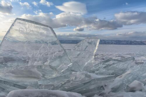 Transparent ice of Baikal