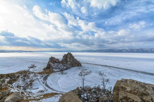 Shamanka Rock on Lake Baikal