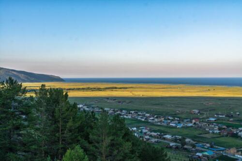 View of the village of Bolshoye Goloustnoye on Baikal