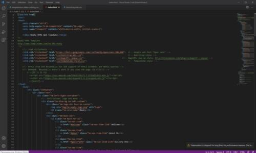 HTML code, site
