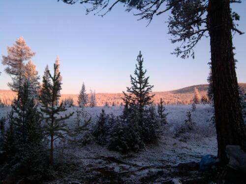 Вид из лагеря на долину р. Марта. 2014 год