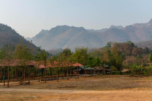 Пейзажи Таиланда, навесы для слонов