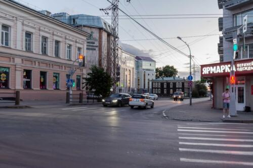 Томск, улица Ленина на закате