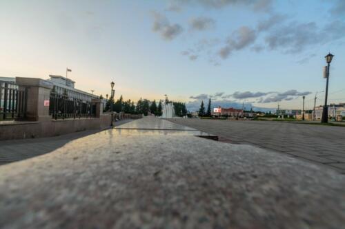 Томск, площадь возле здания Арбитражного суда