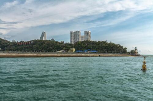 Вид на Паттайю со стороны Сиамского залива